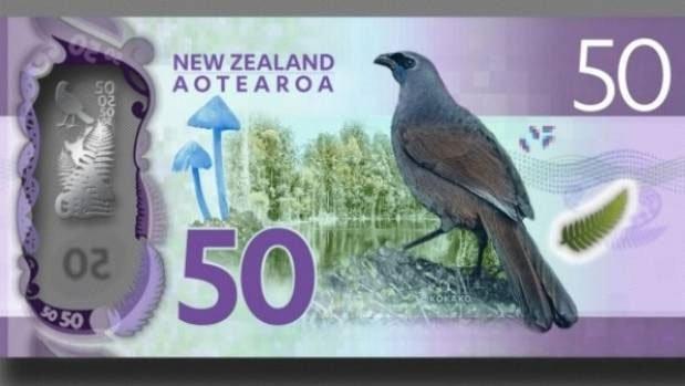 Loài Nấm Vinh Dự được In Trên Mặt Sau Của Tờ Tiền New Zealand